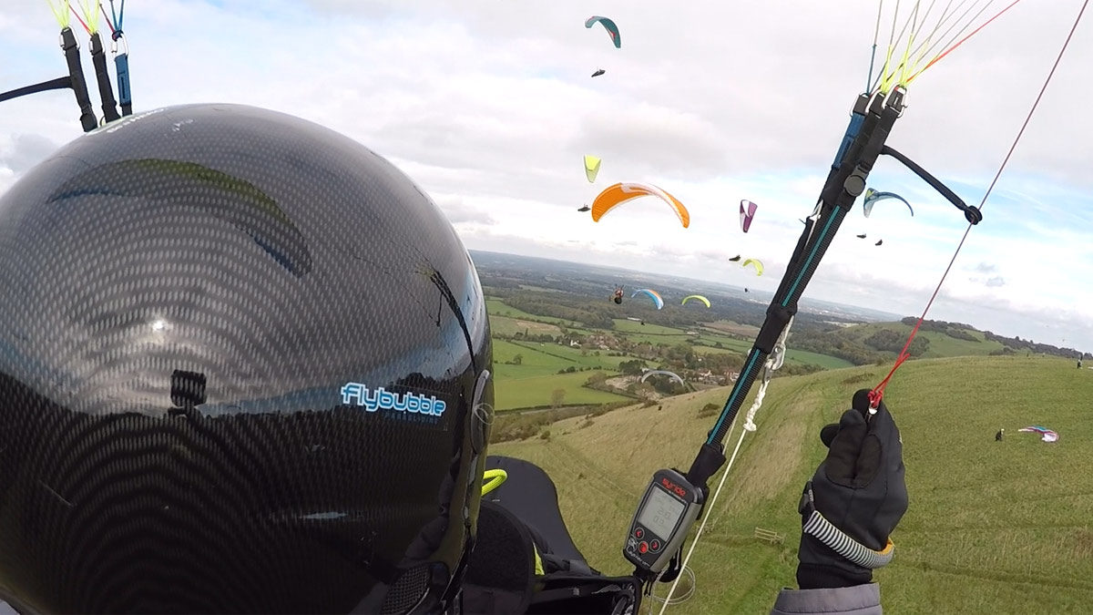 How to fly in paragliding traffic: turn right