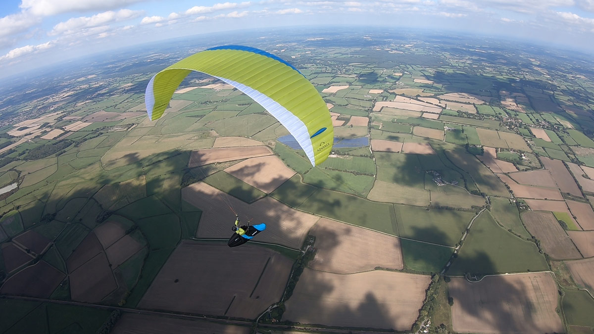 Advance XI paraglider review: on glide