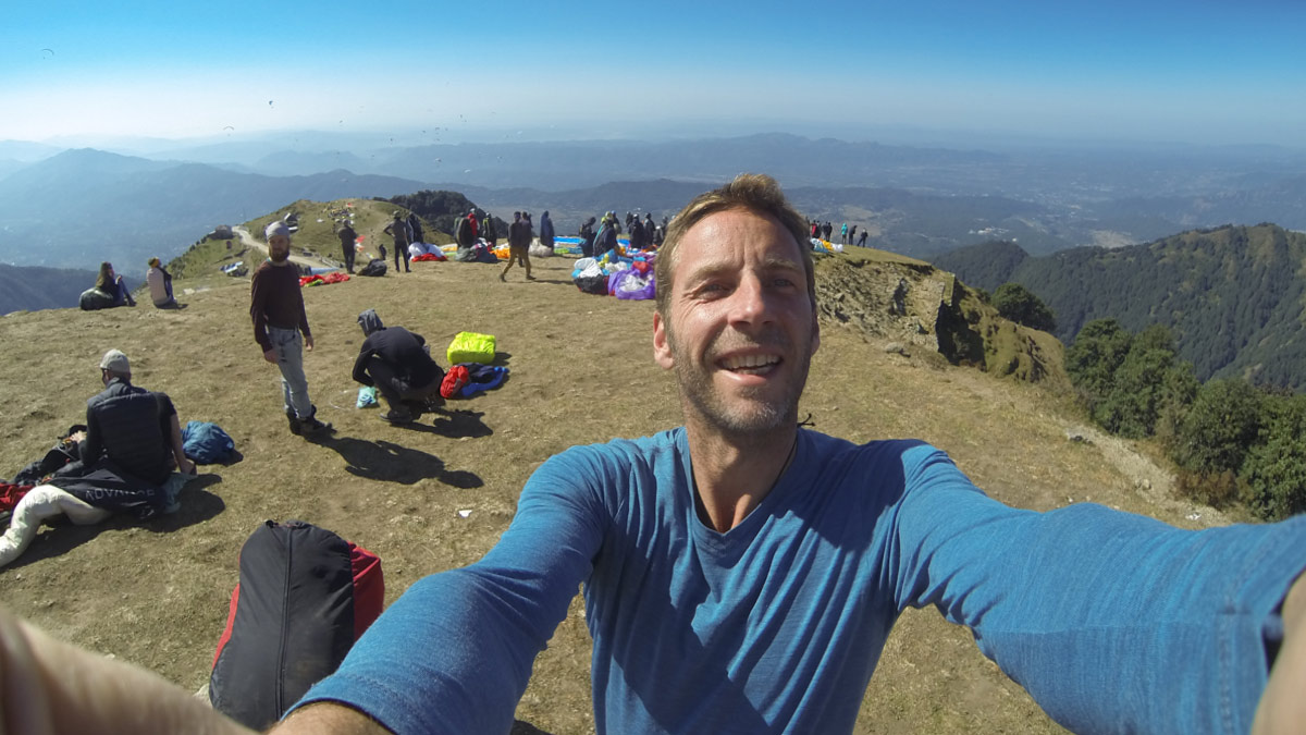 Paragliding Bir (Himalaya): happy launch sites