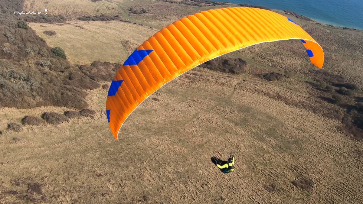Phi MAESTRO paraglider review - topsail