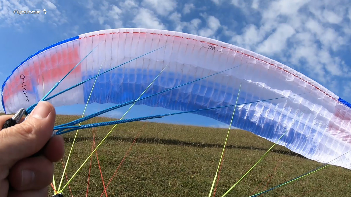 Triple Seven Q-LIGHT paraglider review: ground handling
