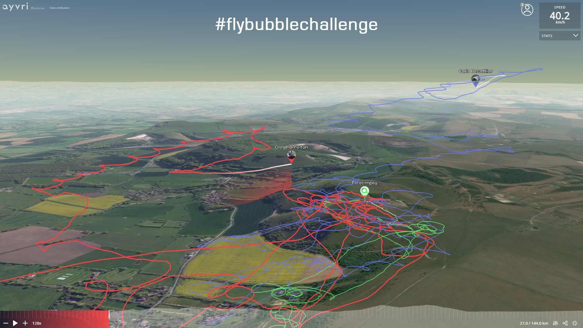 The Flybubble Challenge 2019: tracks