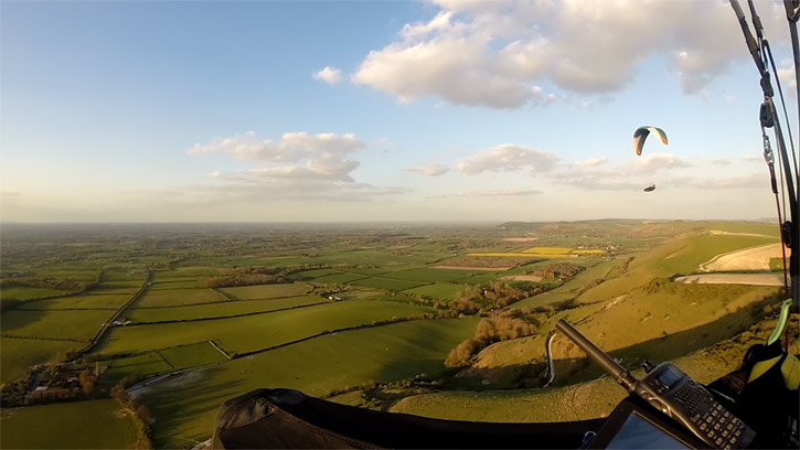 All around The South Downs hills with a Paraglider