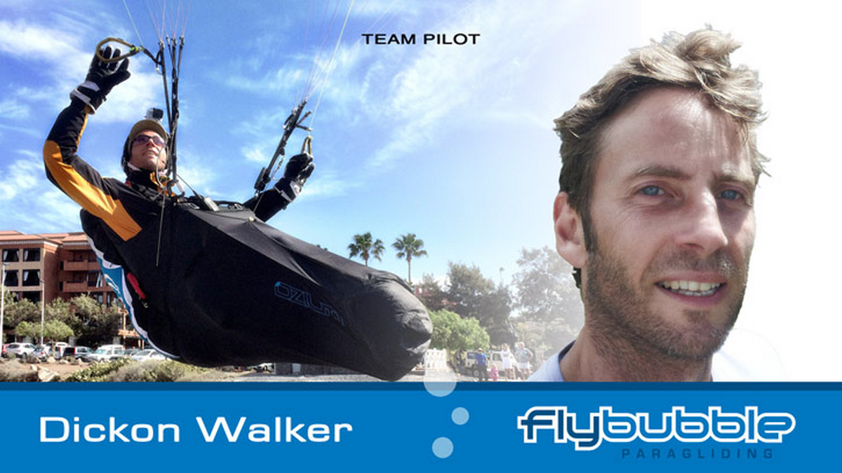 Dickon Walker (Flybubble Team Pilot)