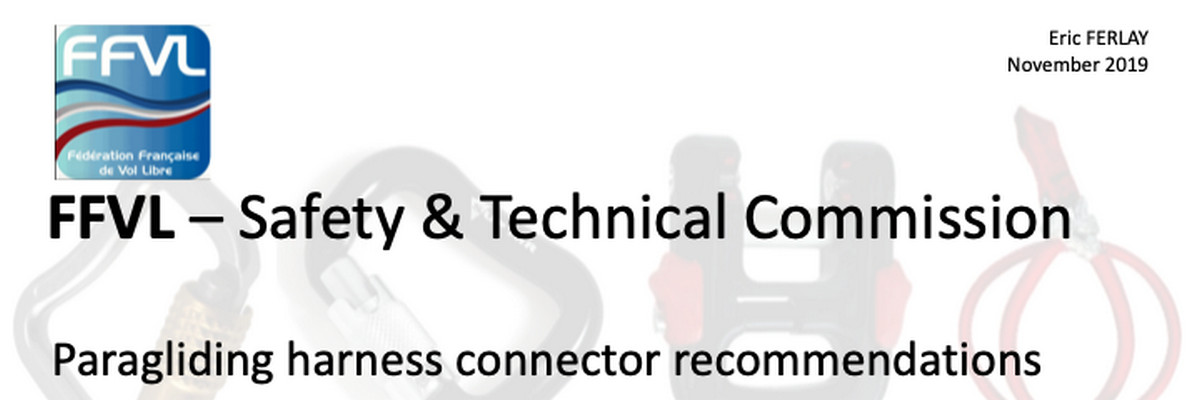 FFVL Safety & Technical Commission Paragliding harness connector recommendations