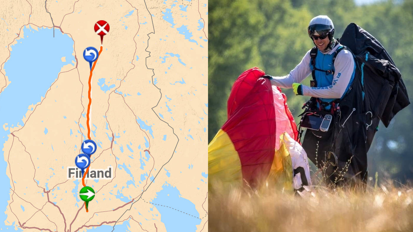 New European paragliding distance record 508km, and first flight over 500km in Europe!