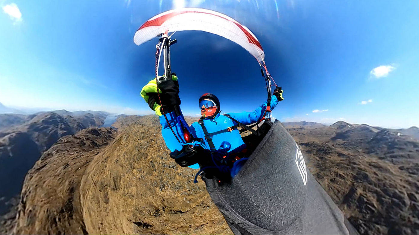Scottish paragliding open-distance record