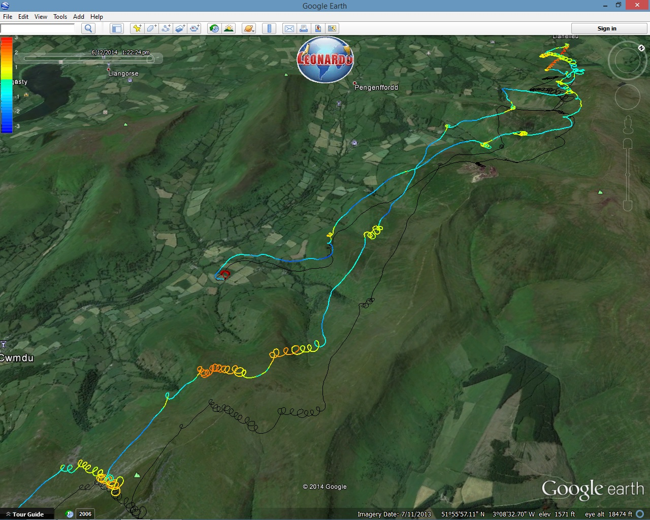 Paragliding xc tracklog overview