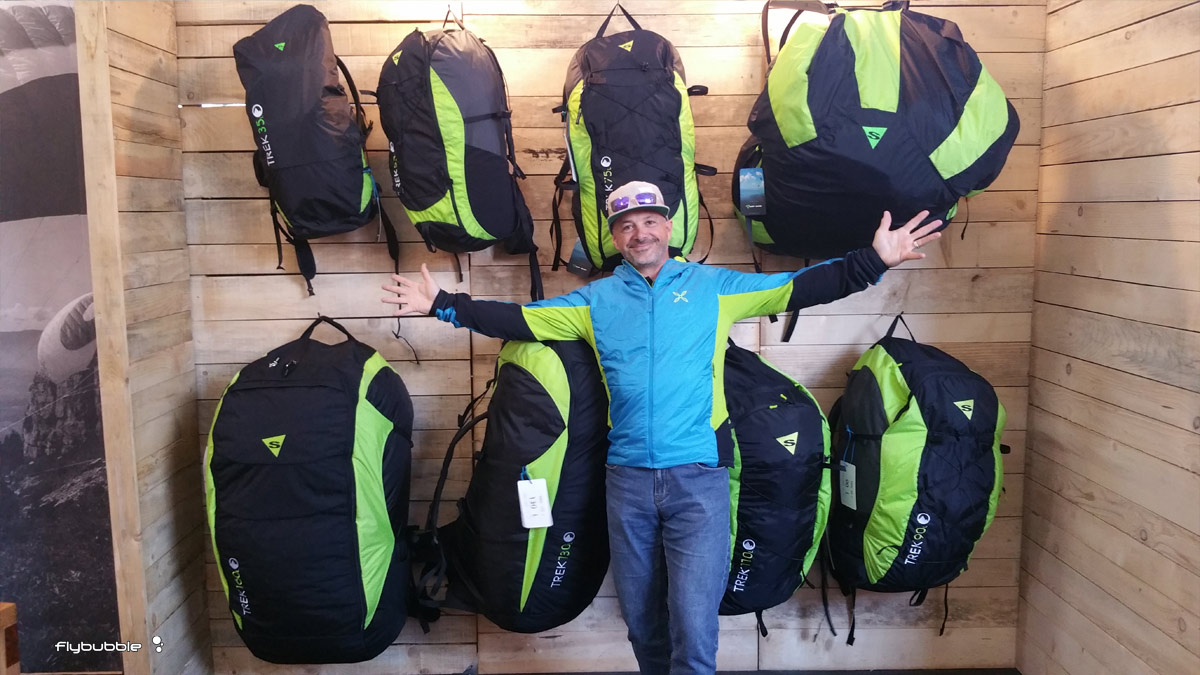 Sup'Air backpacks and bags at Coupe Icare 2016