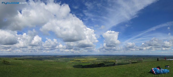 A sky full of promise at Uffington White Horse, Berkshire.