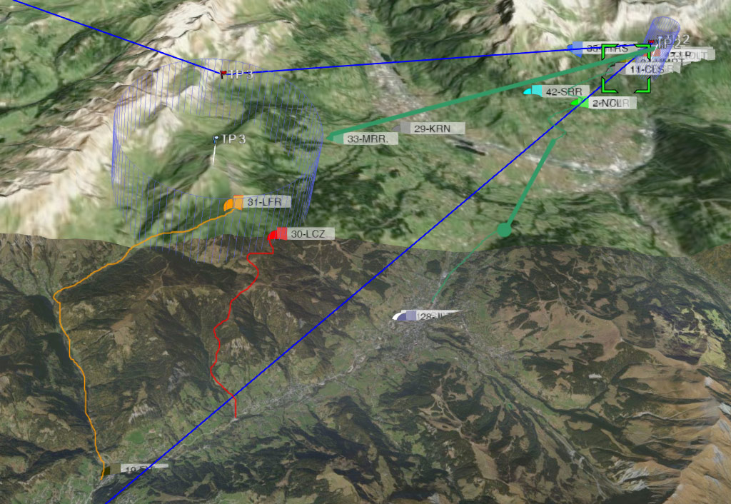 Bornes To Fly: day 2 morning routes