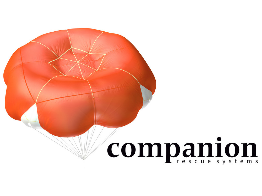 Paragliding reserve parachute guide: square round