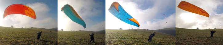 EN paraglider class comparison forward launch