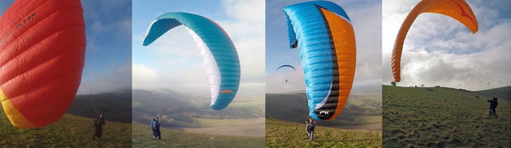 EN paraglider class comparison groundhandling