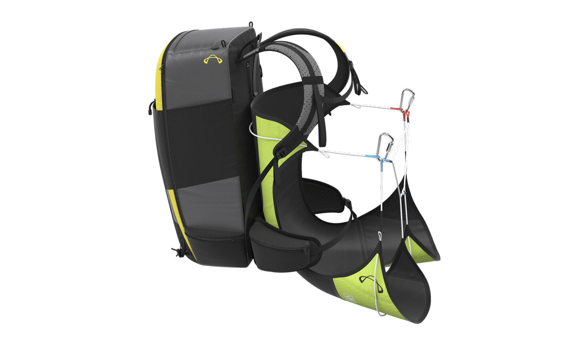 Advance STRAPLESS harness paired with Advance PIPACK 2 rucksack (rucksack not included with harness)